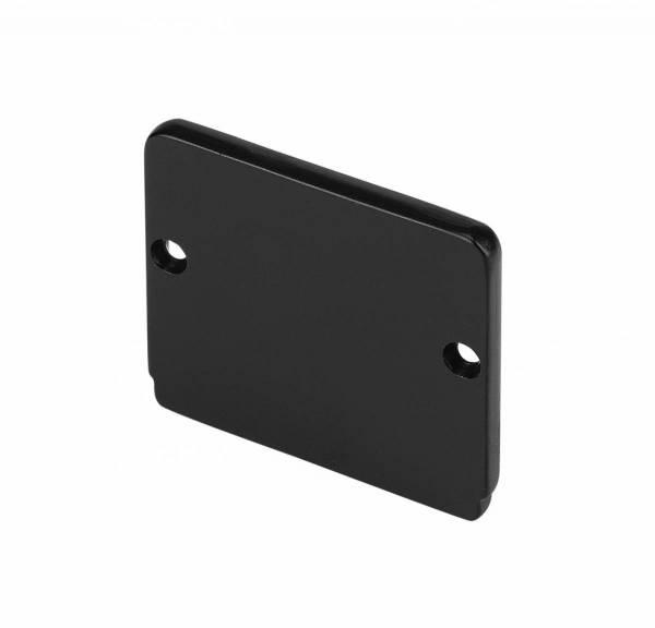GLENOS end cap for industrial profile flat,matt black,2 pcs.