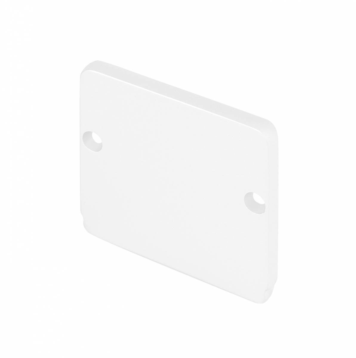 GLENOS end cap for industrial profile flat,matt white,2 pcs.