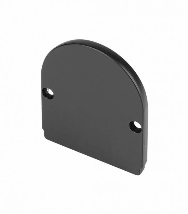 GLENOS end cap for industrial profile dome,matt black,2 pcs.