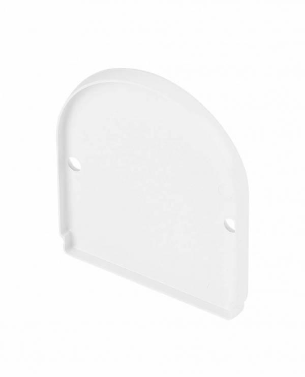 GLENOS end cap for industrial profile dome,matt white,2 pcs.