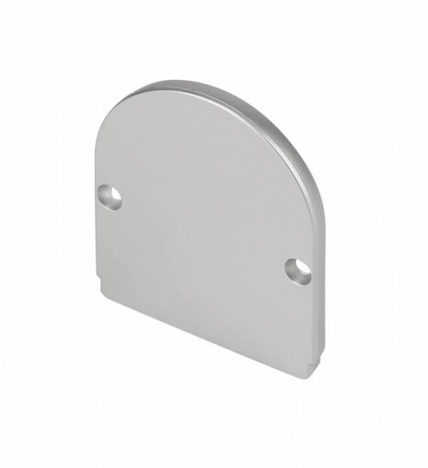 GLENOS end cap for industrial profile dome, silver, 2 pcs.