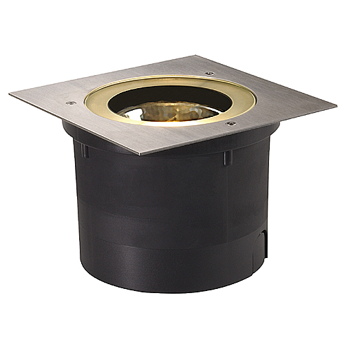 ADJUST QRB111 rec. floor l., max.50W, IP67, square, st.steel