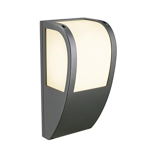 KERAS ELT wall lamp, E27 ESL, max. 25W, IP54, anthracite