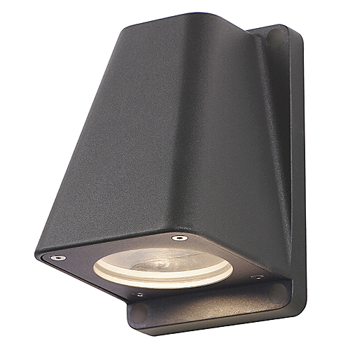 WALLYX GU10 wall lamp, max. 50W, IP44, anthracite