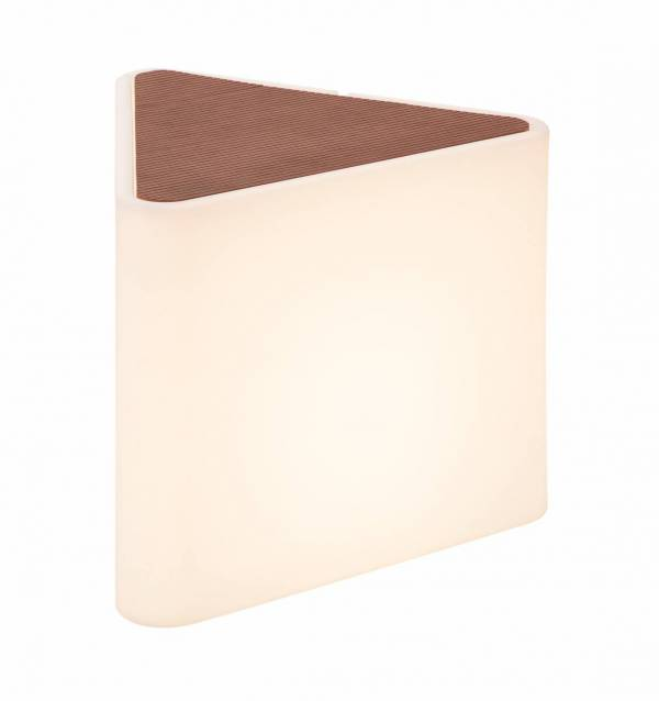KENGA outdoor fitting,triangular, artificial wood cover,E27