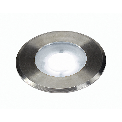 DASAR FLAT LED, 4,3W, 5700K, round, stainless steel