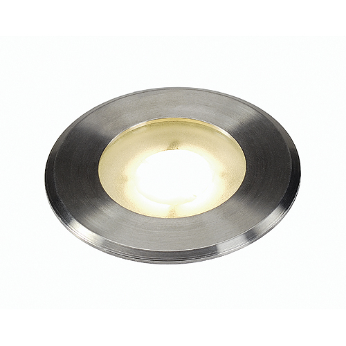 DASAR FLAT LED, 4,3W, 3000K, round, stainless steel