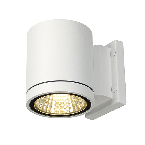 ENOLA_C OUT WL wall lamp, 9W, 3000K, 35°, round, white