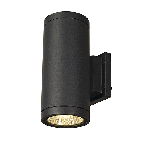 ENOLA_C OUT UP-DOWN wall lamp, 9W, 3000K, round, anthracite