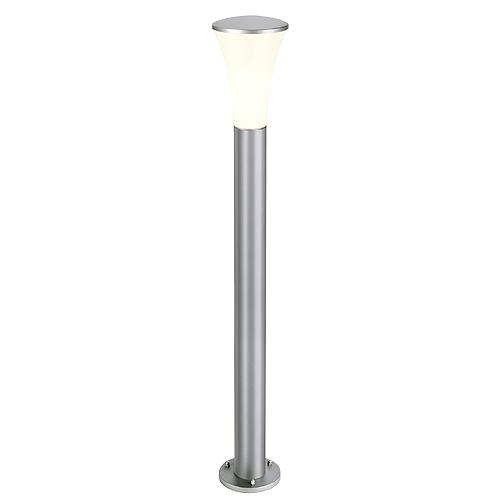 ALPA CONE 100 floor lamp, E27 ESL, max.24W, IP55, silvergrey