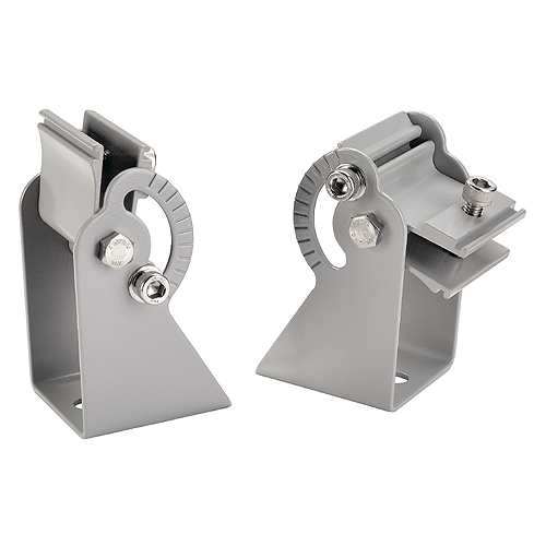 Wall holder for VANO, short, 2 pieces, silvergrey