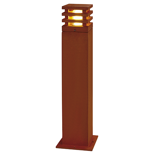 RUSTY SQUARE 70 outdoor lamp, E27 max.11W, IP55, rusted iron