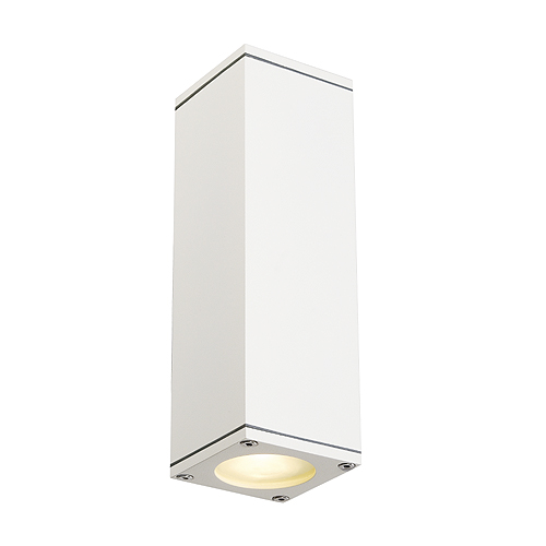 THEO UP/DOWN OUT wall lamp, GU10, max. 2x35W, square, white