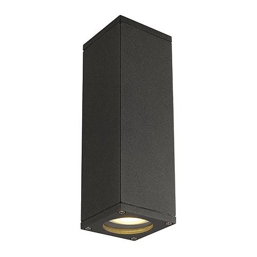 THEO UP/DOWN OUT wall l., GU10 max.2x35W, square, anthracite