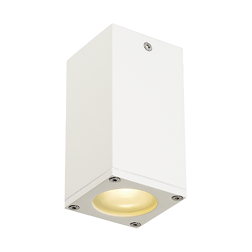 THEO CEILING OUT GU10 ceiling lamp, max. 35W, square, white