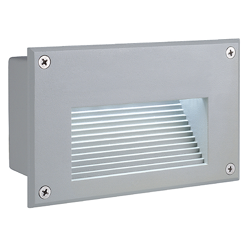 BRICK LED Downunder wall l., 6500K, rectangular, silvergrey