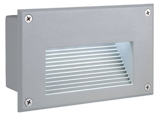 BRICK LED Downunder wall l., 3000K, rectangular, silvergrey