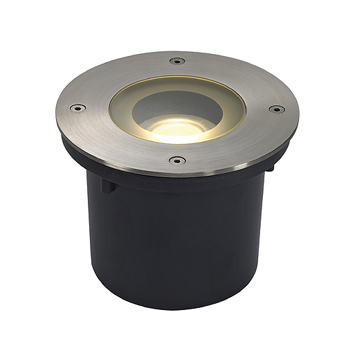 WETSY LED DISK 300, round, st steel, f Philips LED Disc M.7W
