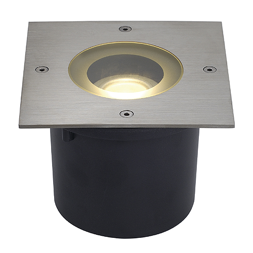 WETSY LED DISK 300, square, st steel,f Philips LED Disc M.7W