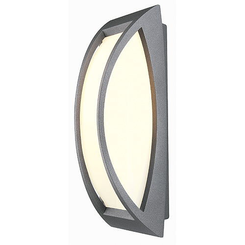 MERIDIAN 2 wall lamp, E27, max. 25W, IP54, anthracite