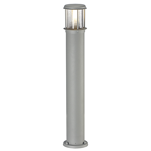 OTOS GLASS floor lamp, E27, max.15W, IP43, silvergrey