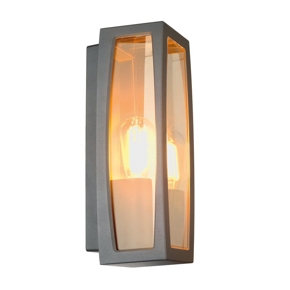MERIDIAN BOX 2 outdoor luminaire, E27, max. 25W, anthracite