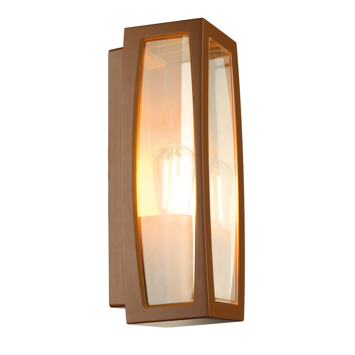 MERIDIAN BOX 2 outdoor luminaire, E27, max. 25W, rusty