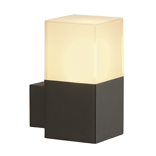 GRAFIT wall lamp, E27, max. 11W, IP44, anthracite/white