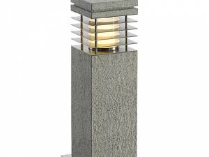 ARROCK GRANITE 40 floor lamp, E27, max. 15W, salt&pepper