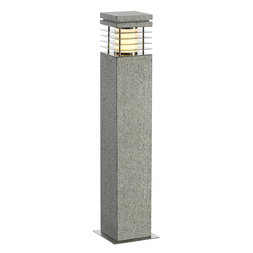 ARROCK GRANITE 70 floor lamp, E27, max. 15W, salt&pepper