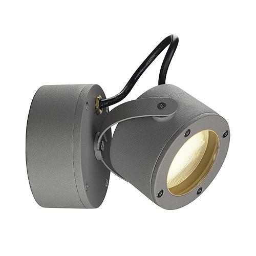 SITRA 360 WL wall lamp, GX53, max. 9W, IP44, stone grey