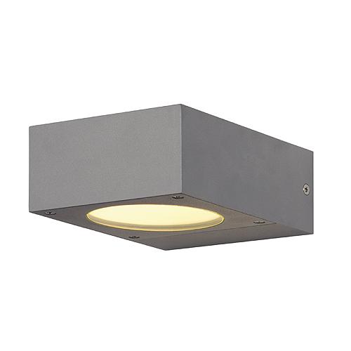 QUADRASYL wall lamp WL 15, GX53 max.11W, square, silvergrey