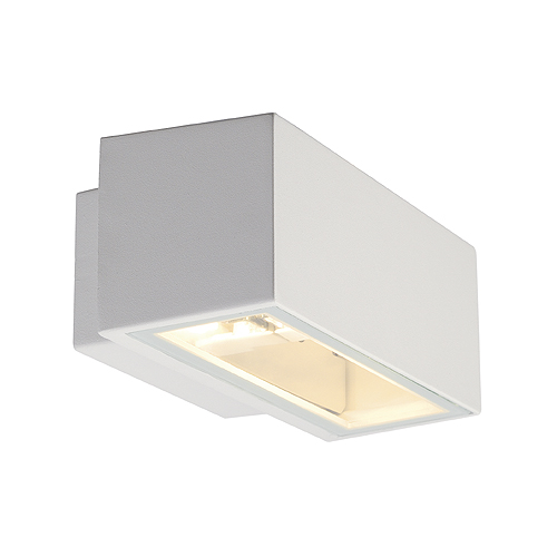 BOX R7S wall lamp up-down, max. 80W, IP44, square, white