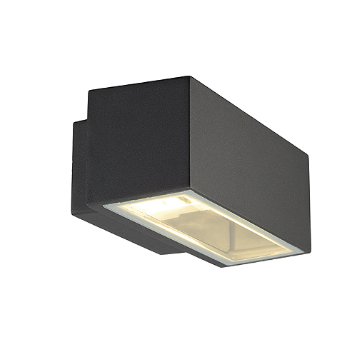 BOX R7S wall lamp up-down, max.80W, IP44, square, anthracite