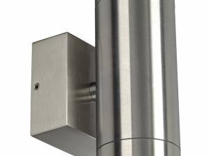 Anista Steel LED UP/DOWN, 2x3W, 3000K, IP44, stainless steel