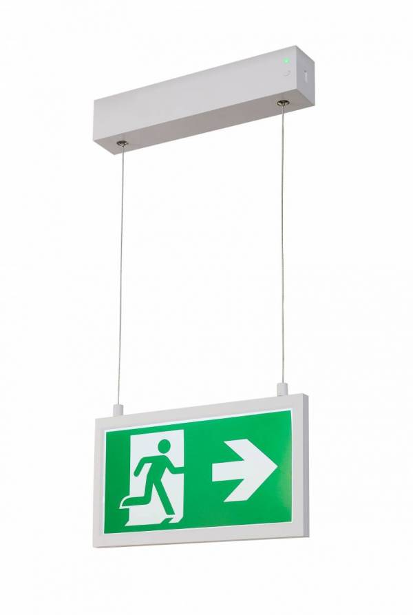 P-LIGHT Emergency Exit sign small pendant, white