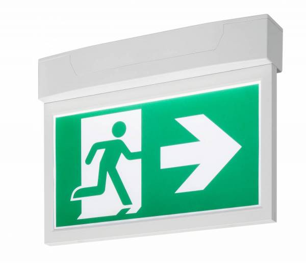 P-LIGHT Emergency Exit sign big ceiling/wall, white