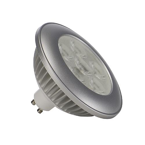 ES111 LED, 6W, 3000K, 650lm, 36°, silver housing