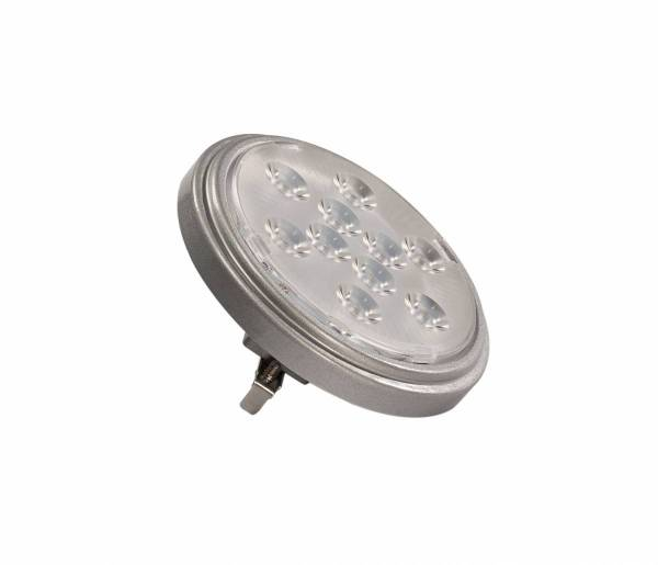 LED QR111 G53 bulb, 13°, silvergrey, 2700K, 800lm