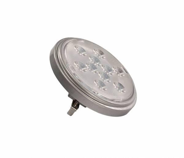 LED QR111 G53 bulb, 13°, silvergrey, 4000K, 800lm