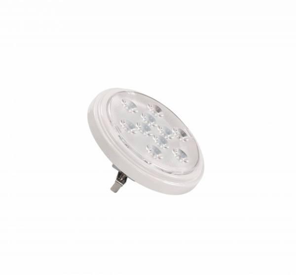 LED QR111 G53 bulb, 13°, white, 2700K, 800lm