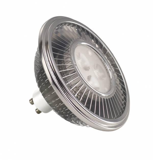 LED ES111,  silver, 15W, 30°, 2700K