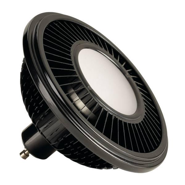 LED ES111,  black, 15W, 140°, 2700K