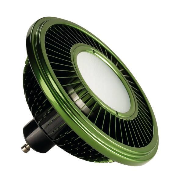 LED ES111, green, 15W, 140°, 2700K