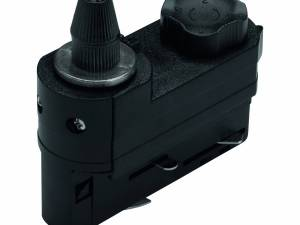 3-phase Adapter with strain relief black Plastic