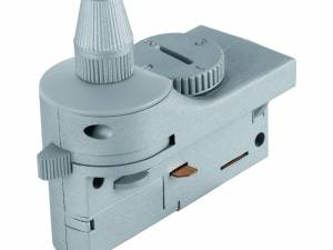 3-phase Adapter with strain relief silver Plastic