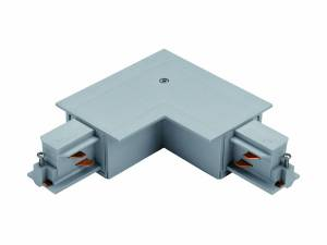 3-phase 90° connector recessed silver, plastic, inside