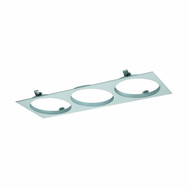 """Ferronego Installation frame """"111"""" square / 3-fach silver"""