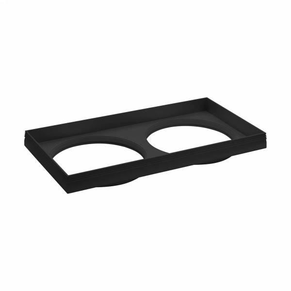 """Ferronego Installation frame """"111"""" square / 2-fach black"""