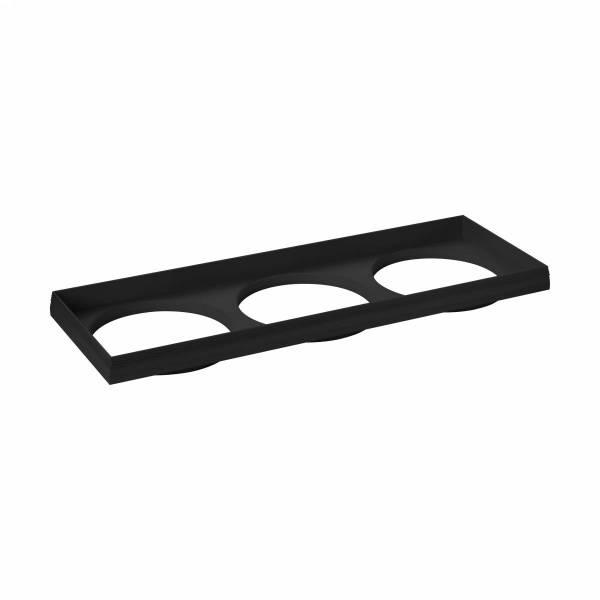 """Ferronego Installation frame """"111"""" square / 3-fach black"""